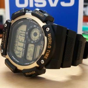 Casio Sports World Time Chronograph Watch